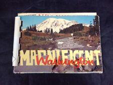 Washington State Vintage Color Mini Photo Album Book Souvenir