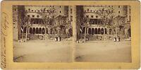 Spagna Museo E Paesaggio 2 Foto Stereo Albumina Vintage Citrato Ca 1900