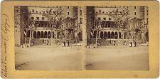 Espagne Musée et Paysage 2 photos Stéréo Albumine Vintage citrate ca 1900