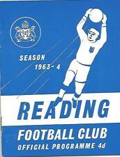 Football Programme - Reading v Crewe Alexandra - Div 3 - 27/3/1964