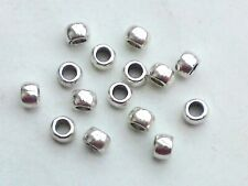 50x métal perles perles 7mm spacer métal großloch perles Altsilber bastelperlen