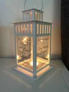 This Candle Burns Bright - Memorial - Personalised - Lantern insert FUNERAL