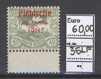 Dt. Abstimmung Oberschlesien Mi.Nr. 36, 40 Pfg. 1921 ** mit Leerfeld (21254)