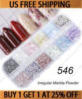 Irregular Marble Powder Sequins Nail Art Flakes Glitter Foil Decoration Manicure