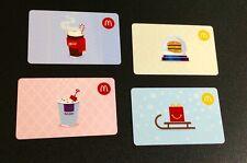 CANADA  🇨🇦  MCDONALDS GIFT CARD ----- SET OF 4 PCS. ----- NEW