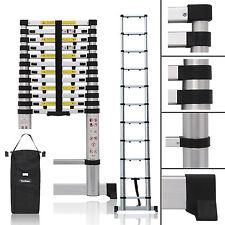 3.2M New Aluminium Telescopic Ladder Extension Extendable Steps + Stabilizer Bar