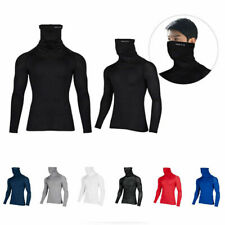Take Five Mens Cool Dry Compression Baselayer Turtle Neck Activewear Shirts 073