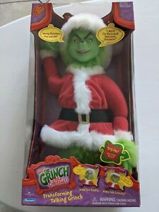 Dr Seuss How the Grinch Stole Christmas Transforming Talking Plush Doll - NEW