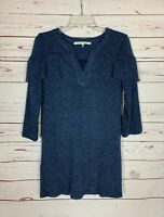 Collective Concepts Stitch Fix Women's SP  Petite Small Navy Cute Sweater Tunic