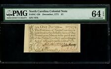 Us Colonial Currency North Carolina Note Fr# Nc-139 December 1771 1P Pmg 64 Epq