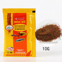 2 bags Sera Fish food mini bit for baby fish shrimp cichild discus betta guppy