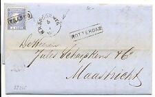 NEDERLAND 1868  LETTER  WITH # 7   PM= N.R. SPOORWEG = TO MAASTRICHT  FINE