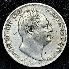 1834~ 6 Pence~ Sixpence~William IIII Great Britain~UK~ World Silver Coin KM #712