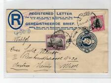 SOUTH AFRICA: 1930? Uprated Registered postal stationery to Austria (C36672)