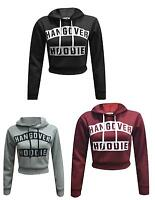 Ladies Hangover Hoodie Print Hooded Crop Sweatshirt Pullover Jumper Top Sweater