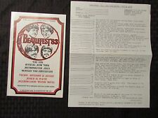 1983 BEATLEFEST Beatles Program & Trivia Quiz NM New York (A)