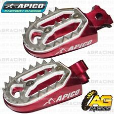 Apico Pro Bite Red Wide Footpegs For Husqvarna CR 500 1999-2013 Motocross Enduro