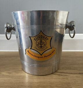 Veuve Clicquot Vintage Champagne Ice Bucket Silver Rare