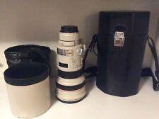 CANON EF 300mm ULTRASONIC 1:2.8 L con custodia in pelle nera