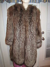 Raccoon 3/4 Length Fur Coat - Small -> Medium