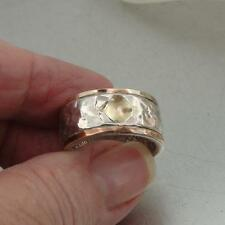 "Hadar Designers NEW ""Wild"" Handmade 9k Gold 925 Sterling Silver Ring size 7.5"