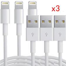 3x Leucht USB Ladegerät Sync Datenkabel für Apple iPhone 5s 6 6s plus Ipad Air