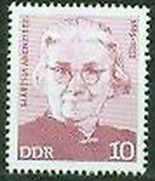 Alemania Oriental - 1693 - Germany 1975 Martha Arendsee-Mov. Worker Alemán-lujo