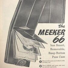 Meeker 66 Wallet Billfold Men Magazine Print Ad Vintage Leather Accessories