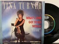 "Tina Turner ‎– What's Love Got To Do With It 7"" Single 1984 Capitol ‎1A 006-20"