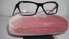 MIU MIU RX Eyeglasses New Black on White Spotted VMU 02N 52 16 1AB-1O1 140