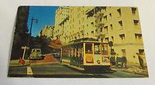 Vintage Postcard Cable Street Car San Francisco California Ca Transportation