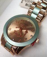 Women's Aeropostale Stylish metal Anchor wrist Watch With Security Sensor NEW