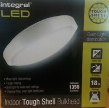 Integral 32-23-21,Tough Shell White Polycarbonate Bulkhead With Opal Diffuser
