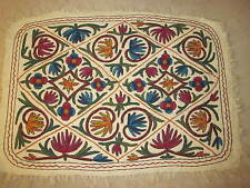 AREA RUG DARJEELING INDIA HAND MADE WOOL 1998 DECOR 48 x 36 MULTI COLORED #3