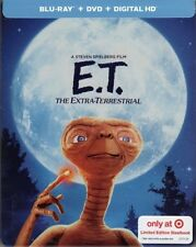 E.T. THE EXTRA-TERRESTRIAL TARGET LIMITED EDITION STEELBOOK BLU RAY+DVD+DIGITAL