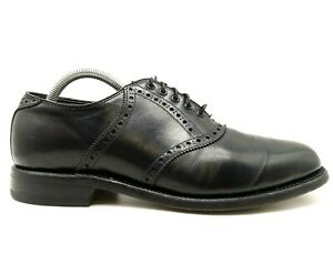 Foot Joy FJ Classics Black Leather Lace Up Saddle Oxfords Shoes Men's 8 E