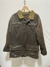 BARBOUR T497 Weather-Worked Bushman Wax Jacket Size Large