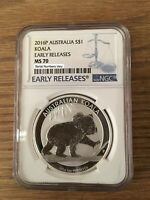 2016 1 oz Australian Silver Koala Coin NGC MS70 Early Release - ER
