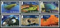 St Helena Christmas Stamps 2014 MNH Fishes Sharks Fish Corals Marine 6v Set