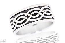 Infinity Celtic Spinner Eternity Crossover Genuine Sterling Silver Ring