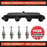 4x Genuine NGK Spark Plugs & 1x Ignition Coil for Citroen Berlingo M49 1.4L