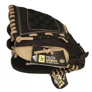 "Adidas Baseball Glove Youth Fielder's 12"" Full Right Eazy Close Triple Stripe"