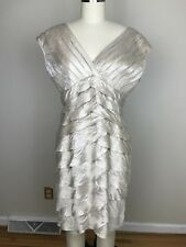 Adrianna Papell Cocktail Dress Champagne Size 12 Petite