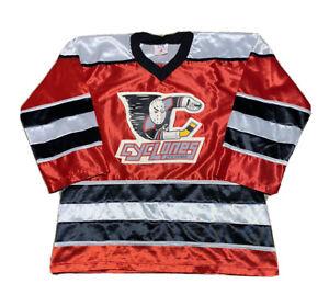 Rare Vintage 90s HiLi ECHL Cincinnati Cyclones Goalie Logo Hockey Jersey size M