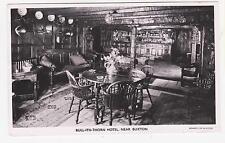 Rppc,Buxton,U.K.Bull-ith- Thorn Hotel,Interior,Derbyshire ,East Midlands,Used,1955