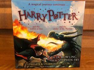 Harry Potter Books Audio - Goblet of Fire & Order of Phoenix - Unabridged