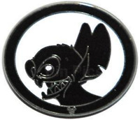 Rare Disney Pin 59275 DLR Silhouette HM Stitch Artist Proof LE Only 25 made AP