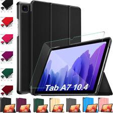 Cuero Inteligente Funda & Vidrio Templado para Samsung Galaxy TabA 7 10.4 T500 T505 2020