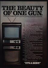 1975 SONY Trinitron KV-1722 Color Television - Beauty Of One Gun - VINTAGE AD