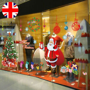 Merry Christmas Tree Wall Window Stickers Decals Xmas Shop Home Decors 60x90cm